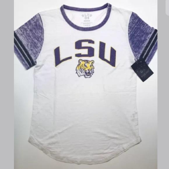 NEW LSU Tigers Shirt Women s Medium M Varsity 4478e5a55